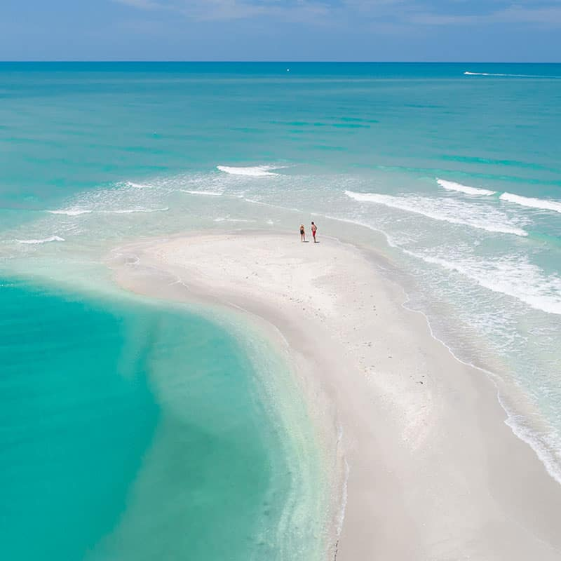 Photo of sandy beach on Sanibel Island